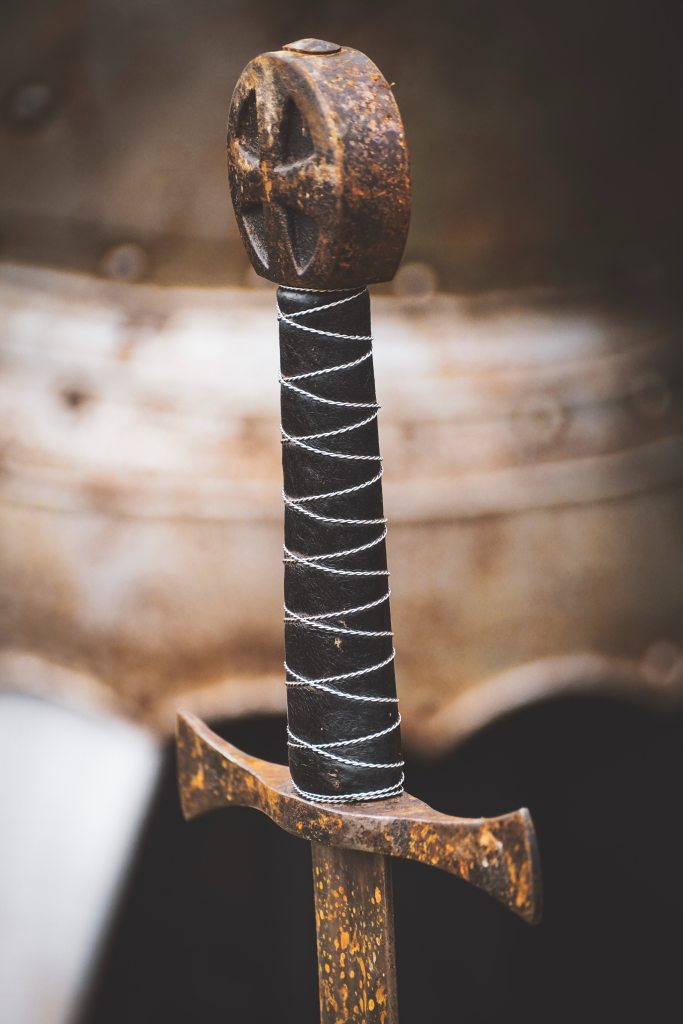 Rusty sword hilt